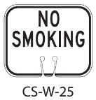 Black White No Smoking Traffic Cone Signs