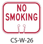 Red White No Smoking Traffic Cone Signs