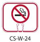 White No Smoking Symbol Traffic Cone Signs
