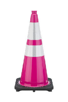 28 Inch Bright Hot Pink Traffic Cones RS70032C-P3M64