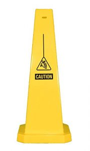 Plastic Lamba Yellow Safety Cone Caution