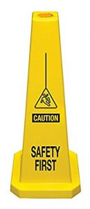 Plastic Lamba Yellow Safety Cone Safety First