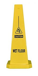 Plastic Lamba Yellow Safety Cone Wet Floor