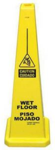 Yellow Wet Floor Cone 03-600-09