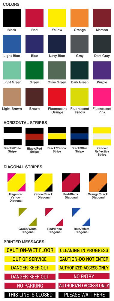 QueuePro Stanchion Retractable Belt Color Choices
