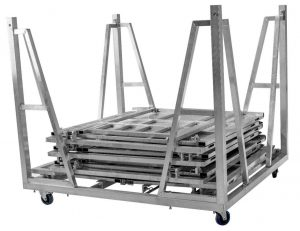 Aluminum Stage Barricade Cart