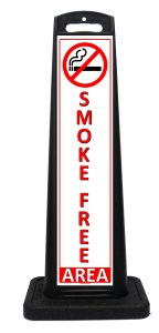 Portable Smoke Free Area Sign