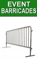 Plastic and Steel Event Barricades