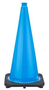 JBC 28 Inch Tall Light Blue Traffic Cone