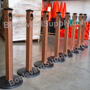 Rustic Wood Stanchions for Outdoor Use