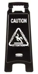 Black Wet Floor Signs