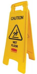Rubbermaid Wet Floor Sign Yellow
