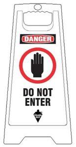 Do Not Enter Floor Signs White