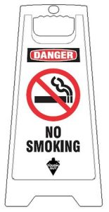 No Smoking Floor Sign White