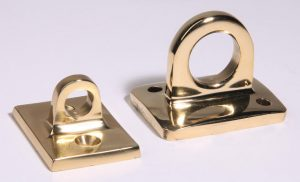 Large and Small Eye Wall Plates for Stanchion Ropes