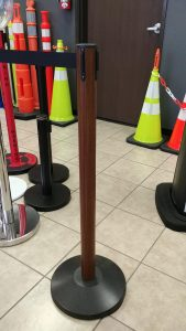 Wooden Retractable Stanchions
