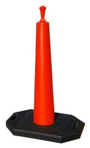 39 Inch Orange Cone Roof Edge Perimeter System