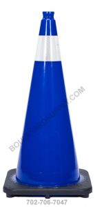 28 inch Royal Navy Blue Reflective Safety Traffic Cone RS70032C-NB-3M4
