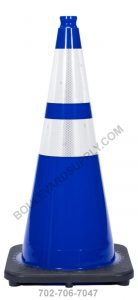 28 inch Royal Navy Blue Reflective Safety Traffic Cone RS70032C-NB-3M64