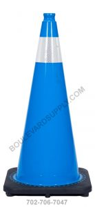 28 inch Sky Blue Reflective Safety Traffic Cone RS70032C-SB-3M4