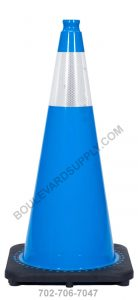 28 inch Sky Blue Reflective Safety Traffic Cone RS70032C-SB-3M6