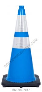 28 inch Sky Blue Reflective Safety Traffic Cone RS70032C-SB-3M64