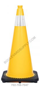 28 inch Yellow Reflective Traffic Cone RS70032C-YELLOW-3M4