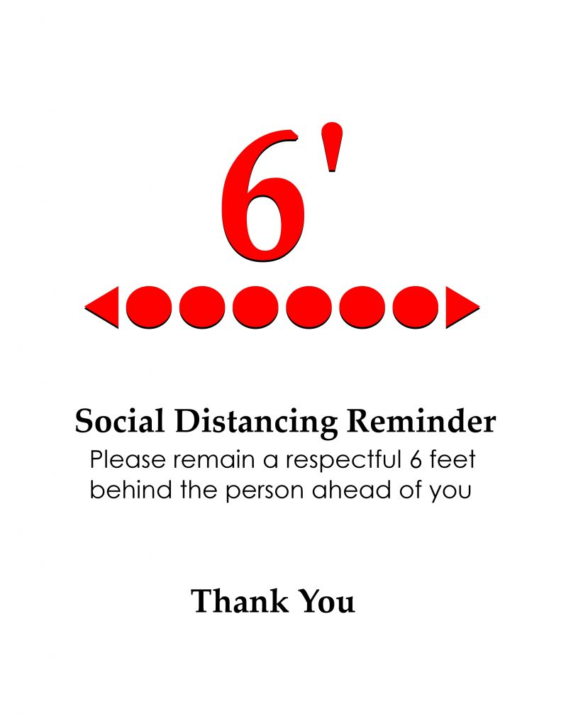 Social Distancing Awareness Reminder