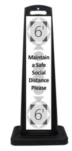 Portable Social Distancing Sign