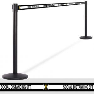 Retractable Social Distancing Barriers