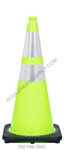 28 Inch Lime Green Traffic Cone RS70032C-3M64-LIME