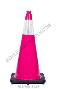 28 inch Pink Reflective Safety Traffic Cone RS70032C-PINK-3M6