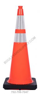 36 inch Orange Reflective Traffic Cone RS90045CT-ORANGE-3M64