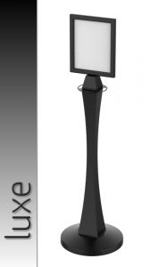 Luxe Luxurious Black Sign Stands