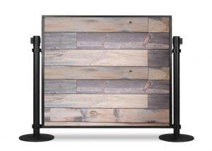 Portable Table Partition Blue Pine