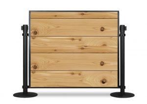 Portable Table Partition Cedar