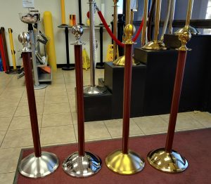 Custom Powder Coated Rope Post Stanchions