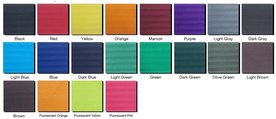 Retractable Stanchion 2 Inch Belt Color Options