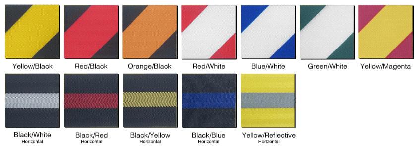 Retractable Stanchion 2 Inch Striped Belt Color Options